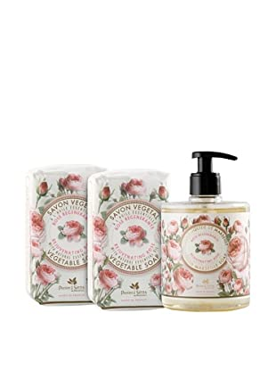 Panier des Sens 3-Piece Rejuvenating Rose Liquid Soap and Vegetable Soaps