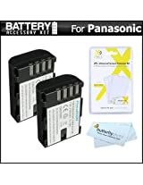 2 Pack Battery Kit For Panasonic Lumix DMC-GH3K DMC-GH3 DMC-GH4 DMC-GH4K Mirrorless Micro Four Thirds Digital Camera Includes 2 Extended Replacement (2100Mah) DMW-BLF19E Batteries + LCD Screen Protectors + MicroFiber Cleaning Cloth