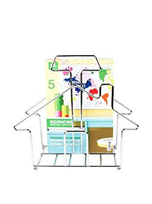 Present Time Home Sweet Home Magazine Rack, Chrome