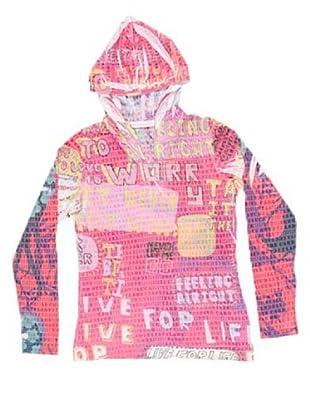 Custo Camiseta Hoody Feel Good (fucsia)