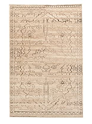 eCarpet Gallery One-of-a-Kind Hand-Knotted Mystique Gabbeh Rug, Khaki, 5' 1