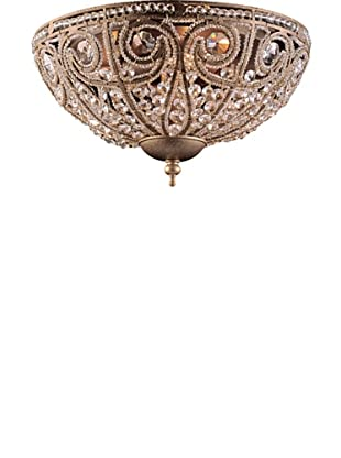 Artistic Lighting Elizabethan 3-Light Flush-Mount Ceiling Fixture, Dark Bronze