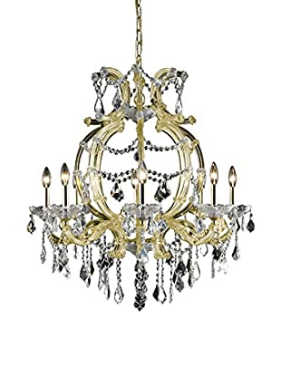 Crystal Lighting Maria Theresa 6-Light Chandelier, Gold