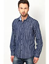 Blue Casual Shirts Pepe Jeans