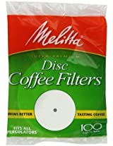 Melitta Coffee Filters for Percolators, White (3.5-Inch Discs), 100-Count Filters (Pack of 24) Home Supply Maintenance Store