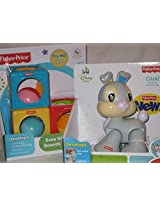 Thumper Click Toy and Easy Stack Blocks Color and Sounds By Fisher-price Early Development Toys Twin