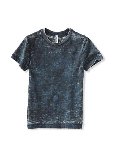 Colorfast Apparel Boy's Burnout/Tye Dye Crew (Blue/Navy)