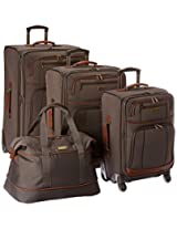 Tommy Bahama Mojito Four Piece Luggage Set, Brownstone, One Size