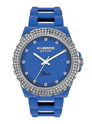 K&BROS 9552-9 / Reloj de Señora  con correa de plástico azul