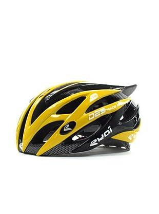 Ekoi Casco de ciclismo Diablo (negro/amarillo)