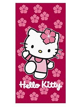 Secaneta Toalla Terciopelo Hello Kitty Spring Fucsia