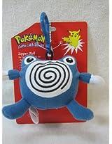 "Pokemon #61 Poliwhirl Plush 3"" Zipper Pull"