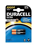 Duracell Ultra Alkaline AAAA Batteries, 2 Count