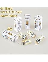 Weanas???? 4pcs 3W AC DC 12V G4 Base 48 LED Light Bulb Lamp