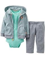Carter's Baby Boys' 3 Piece Cardigan Set (Baby) - Heather/Green - Heather - 9...