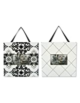 Trend Lab Versailles Black and White 2 Piece Frame Set