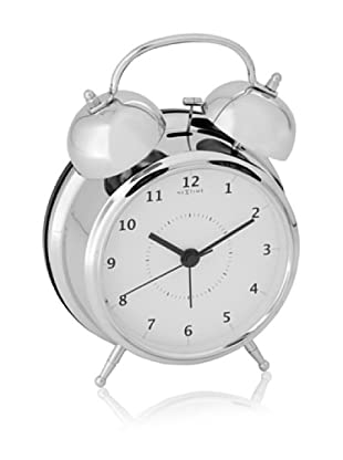 NeXtime Wake Up Table Clock (Metal/White)