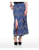 Yepme Women's Blue Polyester Skirt-YPMSKRT5027_28