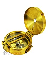 "Antique Maritime Brass Compass Ww Ii Compass 2"" Vintage Collectible"