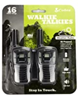(2) Cobra MicroTalk CX102A 16 Mile 22 Channel GMRS/FRS 2-Way Walkie Talkie Radios