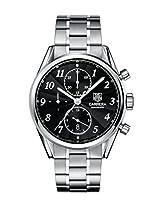 TAG Heuer Men's CAS2110.BA0730 Carrera Black Dial Chronograph Steel Watch