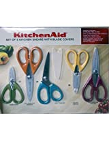Kitchen Aid Set of 5 Shears with Blade Covers
