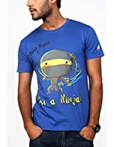Paani Puri Men's Round Neck T-Shirt (M6712_Royal Blue_Small)