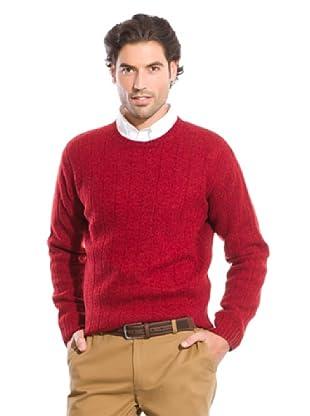 Cortefiel Jersey Desagujado (Rojo)