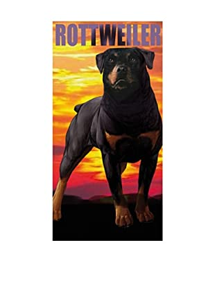 Art Experience Toalla De Playa Rottweiler Multicolor 75 x 152