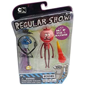 "Regular Show Benson with Walkman and Rage Blast 3.5"" Action Figure"