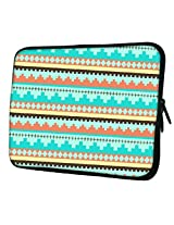 "Snoogg Aztec Pattern Temple15"" inch to 15.5"" inch to 15.6"" inch Laptop netbook notebook Slipcase sleeve Soft case cover bag notebook / netbook / ultrabook carrying case for Macbook Pro Acer Asus Dell Hp Sony Toshiba"