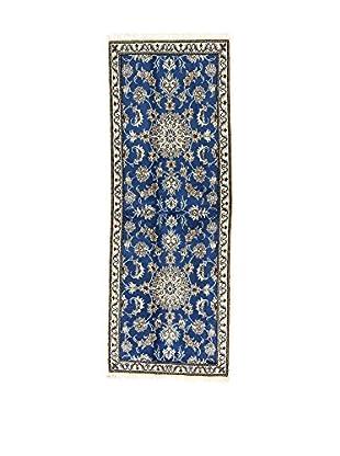 L'EDEN DEL TAPPETO Alfombra Nain K Azul/Beige 78 x 215 cm