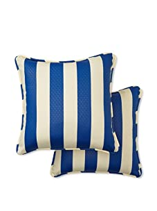 Waverly Set of 2 Sun-n-Shade Solstice Square Decorative Throw Pillows (Marine)