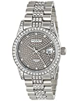 Akribos XXIV Men's AK486GN Impeccable Analog Display Japanese Quartz Silver Watch