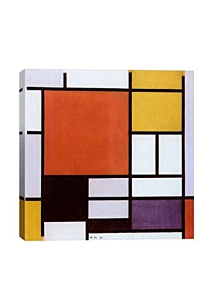Piet Mondrian's Composition with Large Red Plane, Yellow, Black, Gray and Blue, (1921) Giclée Canvas Print