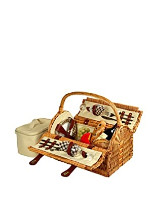 Picnic at Ascot Sussex Picnic Basket for Two, London Plaid