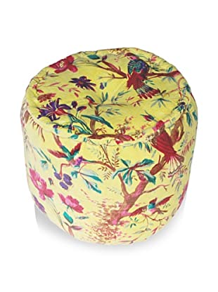 Modelli Creations Velvet Nature Pouf (Lime Green)