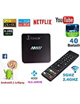 IONIUM M8S + Plus Amlogic S812 Quad Core 2 Ghz Android 5.1 Wifi 4K Smart Tv Box with XBMC KODI 15.2 Youtube Pre-installed Supports Dlna Miracast Airplay Bluetooth 4.0 2GB RAM 8GB ROM Streaming Media NETFLIX Player