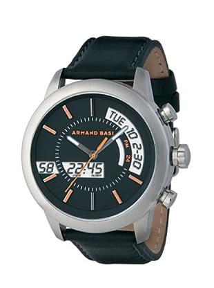 ARMAND BASI A0901G02 - Reloj de Caballero movimiento de cuarzo con correa de piel Negra