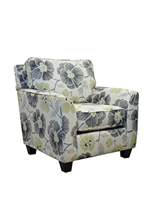 Armen Living Rally Zara Fabric Chair, Gunmetal
