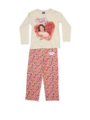 Licencias Pijama Violetta (Beige / Naranja)