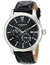 Akribos XXIV Men's AK537BK Ultimate Stainless Steel Automatic Multifunction Strap Watch