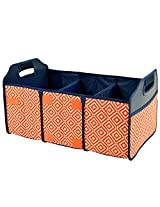Original Folding Trunk Organizer by Picnic at Ascot - Orange/Navy