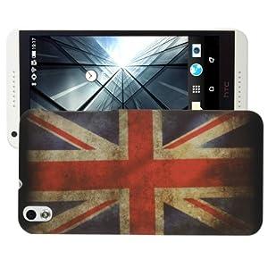 UK Flag Pattern Plastic Case for HTC Desire 816