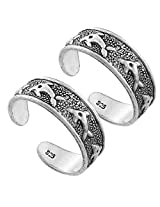 925 Silver Sterling-Silver Toe Ring For Women (Silver)