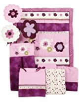 NoJo 9 Piece Crib Set, Pretty In Purple