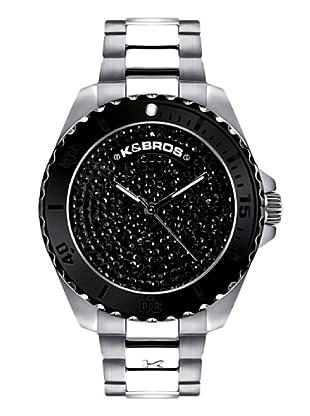 K&BROS 9175-6 / Reloj de Señora  con brazalete metálico negro