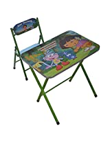M&G Dora Folding Study Table and Chair, Green (5 cm x 64 cm x 69 cm)