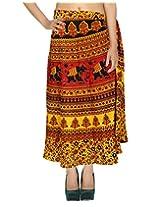 Rajrang Multi Wear Wrap Around Long Skirt Printed Wrap Skirt Open waist