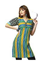 Karishma Suit - FREE Maybelline Colossal Kajal MRP 199 - s Multicolor Printed Pure Cotton dobby Unstitched Kurti Fabric For Women | KDTKPG23